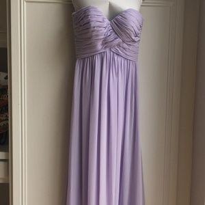Bill Levkoff Lavender Strapless Bridesmaid Dress
